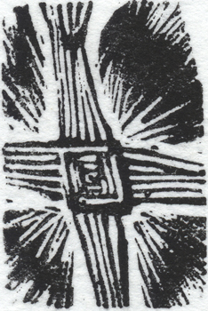 Imbolc, wood engraving